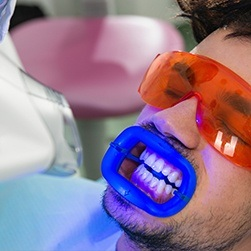Man receiving Zoom whitening