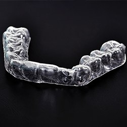 Clear plastic occlusal splint